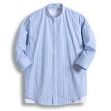 [젠블랙] zenblack - 5미리 스트라이프 헨리넥 7부셔츠 ZSH028
