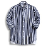 [젠블랙] zenblack - 5미리 스트라이프 7부셔츠 ZSH027