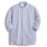 [젠블랙] zenblack - 10미리 스트라이프 헨리넥 7부셔츠 ZSH026