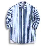 [젠블랙] zenblack - 10미리 스트라이프 7부셔츠 ZSH025