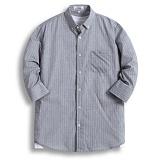 [젠블랙] zenblack - 엣지 스트라이프 원포켓 7부셔츠 ZSH024
