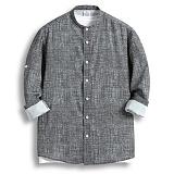 [젠블랙] zenblack - 카치온 헨리넥 롤업 셔츠 ZSH013