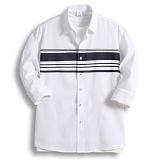 [젠블랙] zenblack - 멀티 스트라이프 포인트 나염 셔츠 ZSH010