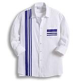 [젠블랙] zenblack - 삼선 포인트 나염 원포켓 셔츠 ZSH008