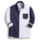 [젠블랙] zenblack - 컬러배색 원포켓 셔츠 ZSH003
