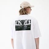 [매스노운]MASSNOUN 블랙아웃 오버핏 티셔츠 MUVTS004-WT 반팔티