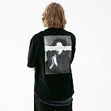 [매스노운]MASSNOUN 프레이어 오버핏 티셔츠 MUVTS005-BK 반팔티