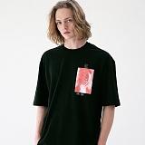 [매스노운]MASSNOUN 네이키드니스 오버핏 티셔츠 MUVTS006-BK 반팔티