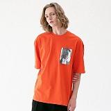 [매스노운]MASSNOUN 네이키드니스 오버핏 티셔츠 MUVTS006-OR 반팔티