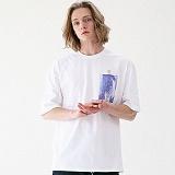 [매스노운]MASSNOUN 네이키드니스 오버핏 티셔츠 MUVTS006-WT 반팔티