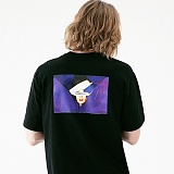 [매스노운]MASSNOUN 커버업 티셔츠 MUVTS007-BK 반팔티