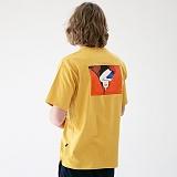 [매스노운]MASSNOUN 커버업 티셔츠 MUVTS007-YL 반팔티