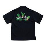 [로맨틱크라운]ROMANTIC Tropical Night Shirt_Navy 반팔셔츠 남방