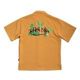 [로맨틱크라운]ROMANTIC Tropical Night Shirt_Mustard 반팔셔츠 남방