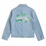 [로맨틱크라운]ROMANTIC CROWN Tropical Trucker Jacket_Blue 트러커 자켓 재킷