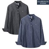 [해리슨] 청 슬럽 반 오픈 셔츠 MT1452