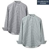 [해리슨] 빼박 체크 반 오픈 셔츠 MT1447