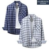 [해리슨] 루즈핏 17번 체크 셔츠 MT1443