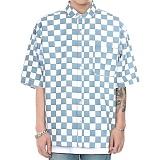 [쟈니웨스트] JHONNYWEST - Circuit Summer Shirts (Blue) 4월25일 예약발송  반팔셔츠 남방