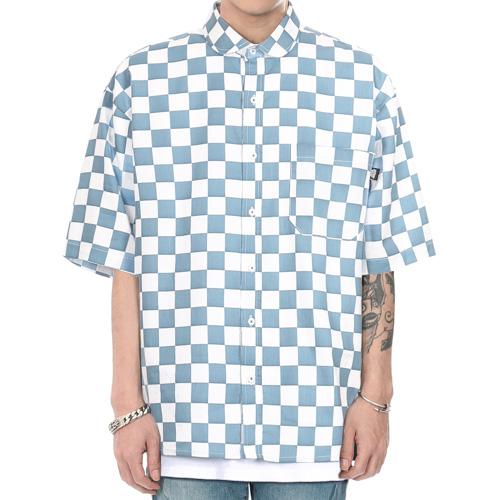 [쟈니웨스트] JHONNYWEST - Circuit Summer Shirts (Blue)   반팔셔츠 남방