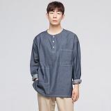 [모니즈] 투포켓 데님 티셔츠 (3color) TSL065