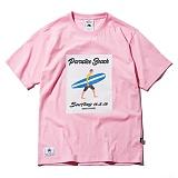 [그루브라임]Grooverhyme - 2017 STRIPE BOARD SURFER T-SHIRT (PINK) [GT033F23PI] 반팔티 티셔츠
