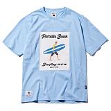 [그루브라임]Grooverhyme - 2017 STRIPE BOARD SURFER T-SHIRT (SKY BLUE) [GT033F23SB] 반팔티 티셔츠