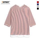 탑보이 - 기획스트라이프레이어드7부티셔츠(RM063)