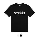 [바리케이트]barricade -  OUR ATELIER 프린트 티셔츠 - 블랙