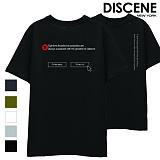[DISCENE] 디씬 편견 반팔 티셔츠 8컬러