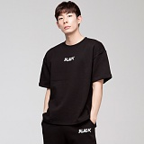 [모니즈] 블랙 롤업 반팔 티셔츠 (2color) TSB062