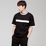 [모니즈] 요꼬 라인 반팔 티셔츠 (2color) TSB061
