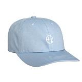 [허프] HUF CIRCLE H CURVE VISOR 6 PANEL (LIGHT BLUE) 스냅백