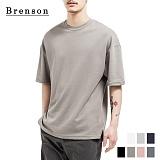 브렌슨 - 소프트워싱 사이드 트임 드랍 티셔츠 7컬러