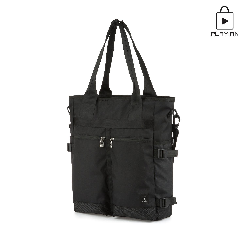 플레이언 - Two pocket tote&cross bag_투포켓 토트&크로스백(PC03MBLK)