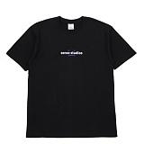 [센스스튜디오] SENSESTUDIO - FUZZY TEE (BLACK) 반팔 반팔티 티셔츠