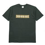 [센스스튜디오] SENSESTUDIO - DON'T WASTE TEE (HUNTER GREEN) 반팔 반팔티 티셔츠