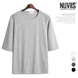 뉴비스 - 루즈핏 실켓 5부 티셔츠 (RM073TS)
