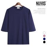 뉴비스 - 오버핏 트임랍빠 5부 티셔츠 (RM072TS)
