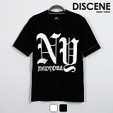 디씬 - NY - 16수 반팔 티셔츠 2COLOR