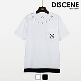 디씬 - 크로스클로버 - 16수 반팔 티셔츠 2COLOR