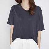 [프로젝트624]PROJECT624 [WOMEN] 데일리 오버핏 모달 유넥 티셔츠 (먹색) 반팔티