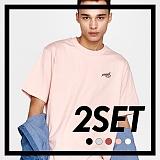 [프로젝트624]PROJECT624 [1+1] 데일리 베이직 자수 티셔츠 (5color) 반팔티