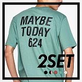 [프로젝트624]PROJECT624 [1+1] 메이비 투데이 624 로고 티셔츠 (5color) 반팔티