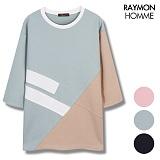 [레이먼옴므] 3단배색 절개 포인트 7부티셔츠 RH2103CS