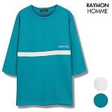 [레이먼옴므] 테잎 배색 7부티셔츠 RH2105CS