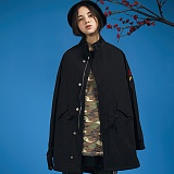 [스토니스트라이드]STONY STRIDE JUSTICE LONG FIELD JACKET - BLACK 롱 필드자켓
