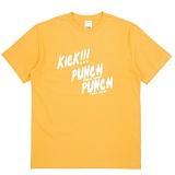 [더블콤보] DOUBLECOMBO - KICK PUNCH TEE (YELLOW) 반팔 반팔티 티셔츠