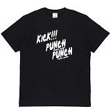 [더블콤보] DOUBLECOMBO - KICK PUNCH TEE (BLACK) 반팔 반팔티 티셔츠