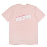 [더블콤보] DOUBLECOMBO - SATISFACTION TEE (PINK) 반팔 반팔티 티셔츠